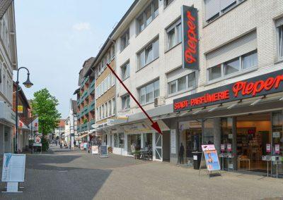 Eingang von der Bahnhofstraße (Fußgängerzone)